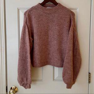 NWT NA-KD Pink Volume Sleeve Sweater